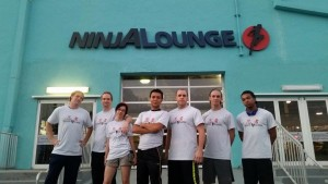 Shinobi School competitors at Ninja Lounge