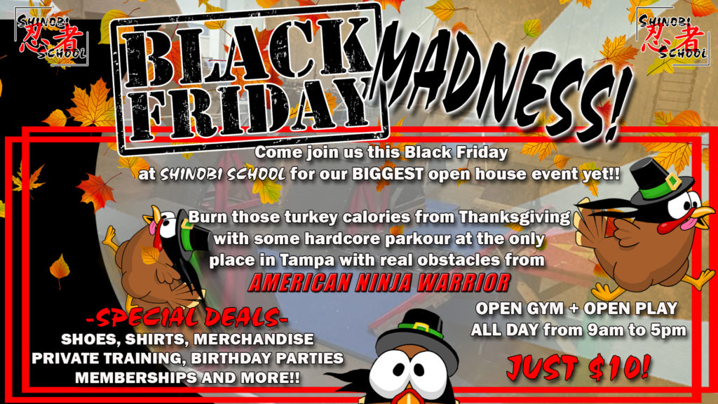 Come play all day, or take advantage of our crazy one day deals this Black Friday!