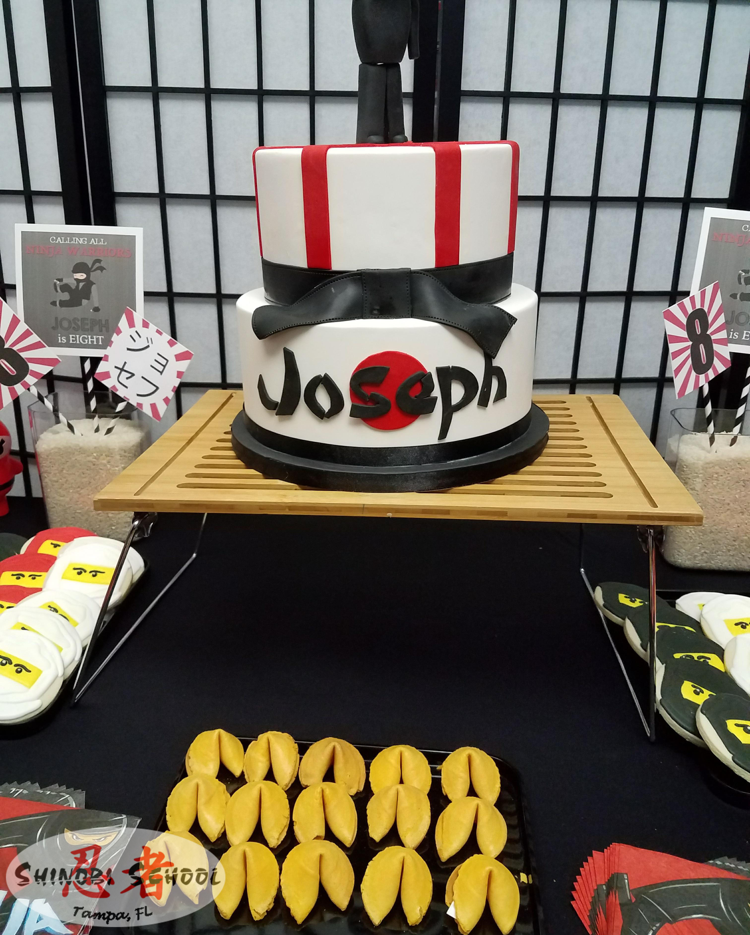Ninja warrior themed birthday cake |